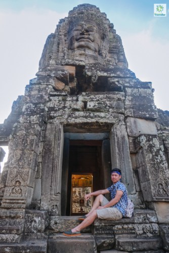 Another moment with the faces of Bayon temple.
