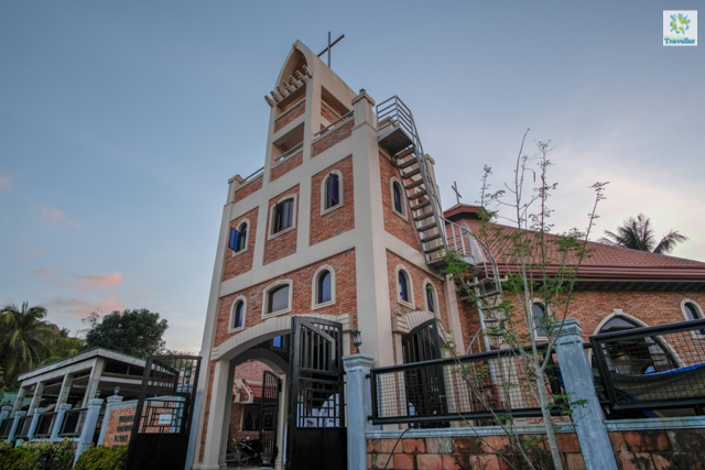 Immaculate Conception church, nearby is a Mosque undergoing construction.