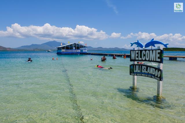 A snorkeling activity area at Luli Island.