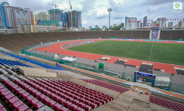 The National Olympic Stadium of Cambodia.