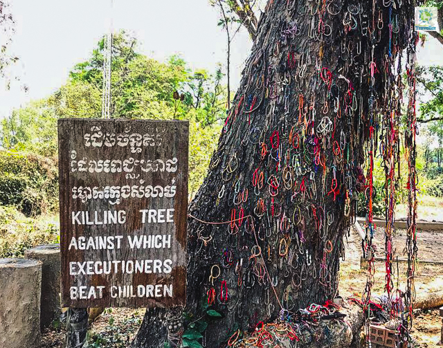 At the Killing Fields.