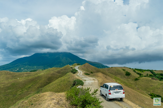 Vayang Rolling Hills with Mt. Araya at the background.