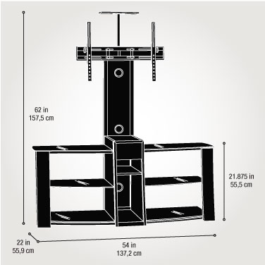 sauder tv stand with mount - Sauder Tv Stands