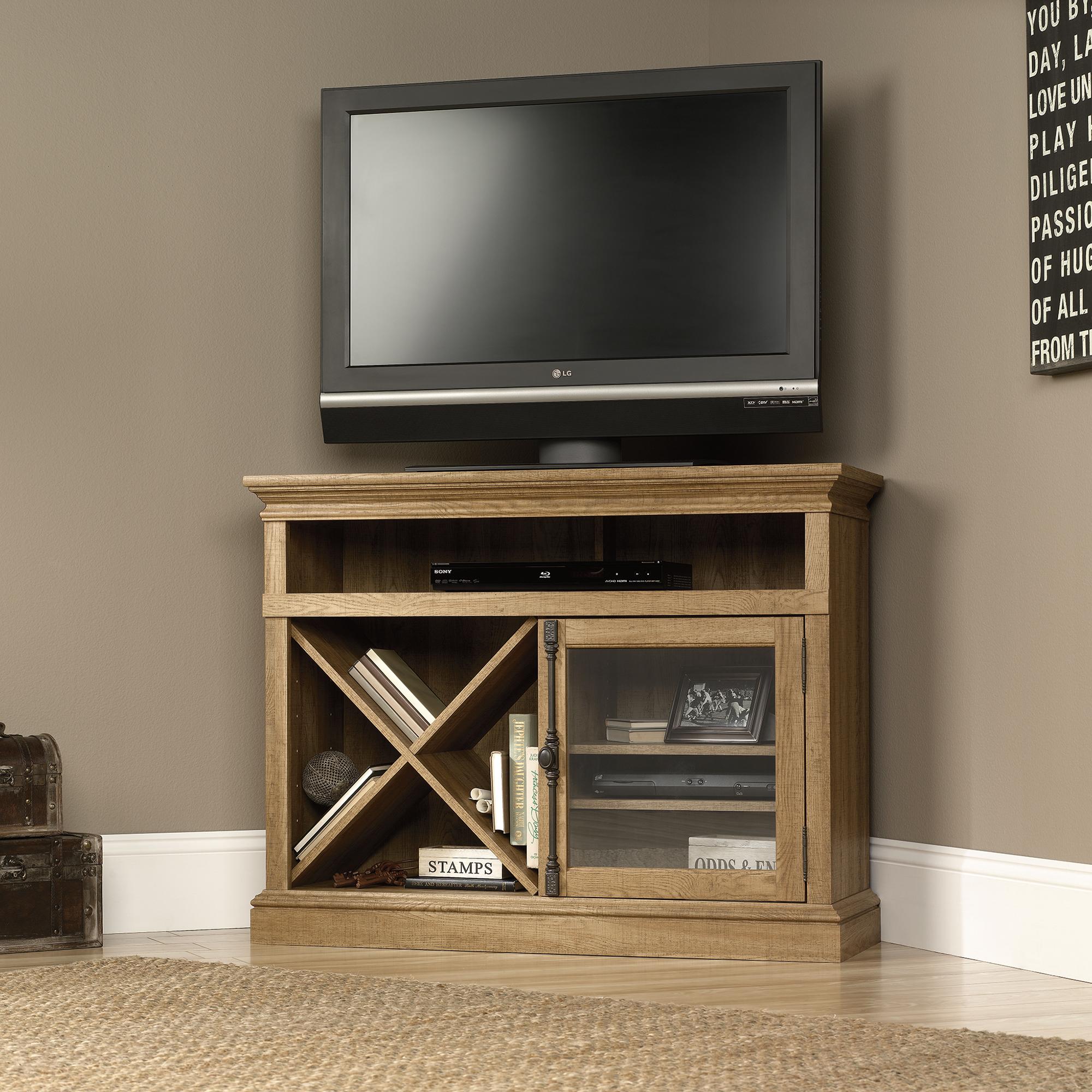 Sauder 414723 Corner Tv Stand The Furniture Co
