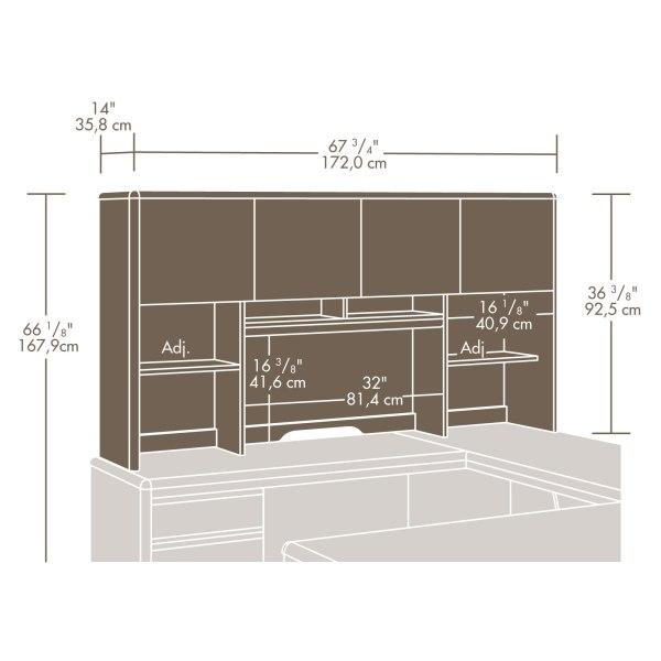 Sauder Cornerstone Hutch 404999 Sauder The Furniture Co