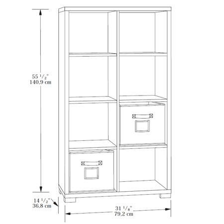 Sauder Transit Bookcase 414254 Sauder The Furniture Co