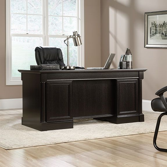 desk computer edge utility water sauder products executive sideboard product stand