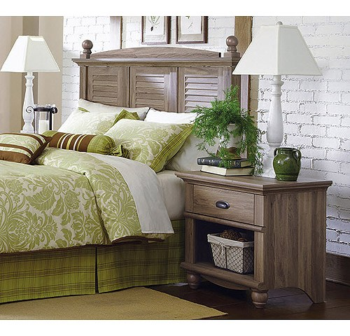Sauder 415002 04 harbor view headboard night stand for Furniture oak harbor