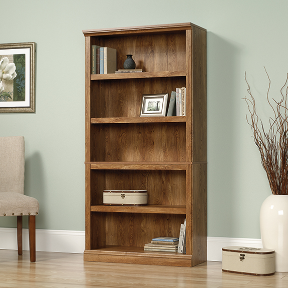Sauder 416354 5 Shelf Bookcase The Furniture Co
