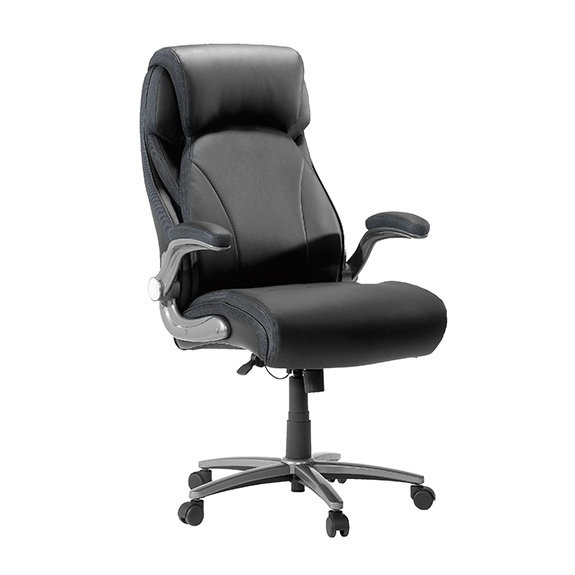 sauder (420615) big and tall office chair black – sauder - the