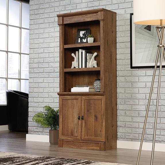 Sauder Vine Crest Library W Doors Sauder The - Crest furniture