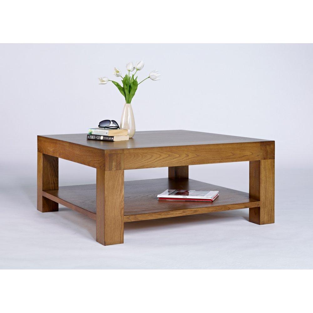 santana rustic oak square coffee table