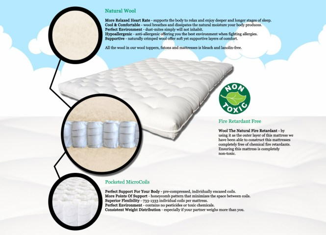 Enjoy A Chemical Free All Natural Sleep With The Tranquility Wool Futon Mattress
