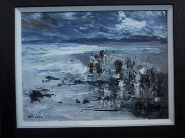 A New Year, Runswick Bay  Acrylic   30 x 40 cm  £695.00