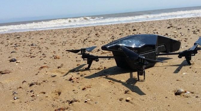 AR.Drone 2.0 Power Edition on Covehythe Beach