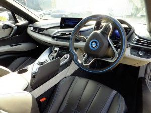 The interior of the BMW i8 is amazing in its own right