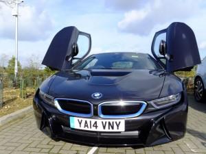 BMW i8 with scissor doors open