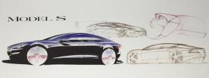 Holzhausen's drawings of the Model S