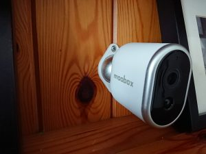 Moobox Camera Mounted at Home