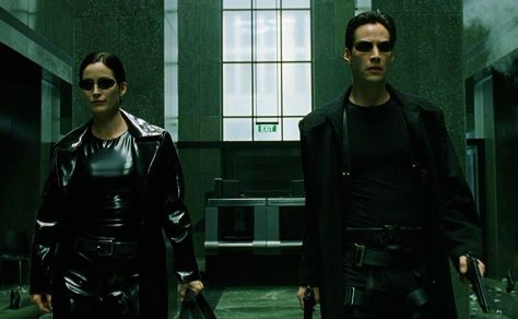 Trinity and Neo from The Matrix