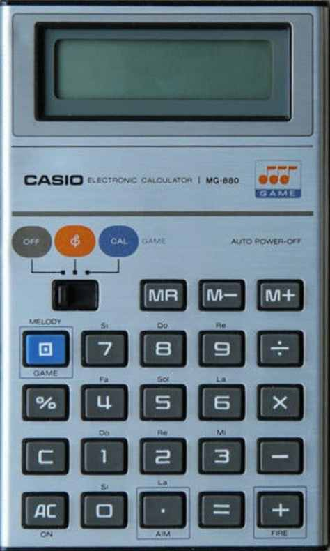 The Casio MG-880 Pocket Calculator