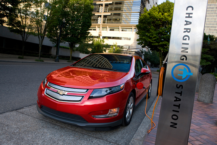 Image result for speeding red chevy volt