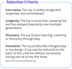 National Toy Hall of Fame Selection Criteria Image