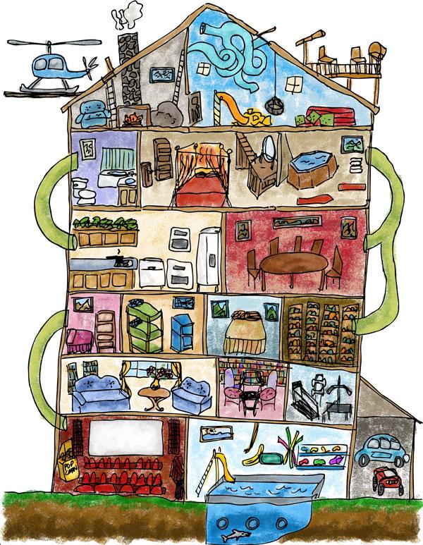 How To Draw A Dream House : dream, house, Dream, House