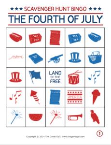 4th of July Bingo board thumbnail