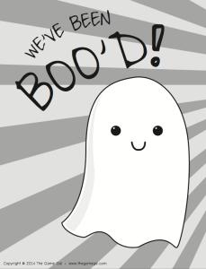Boo Halloween Doorbel Ditch