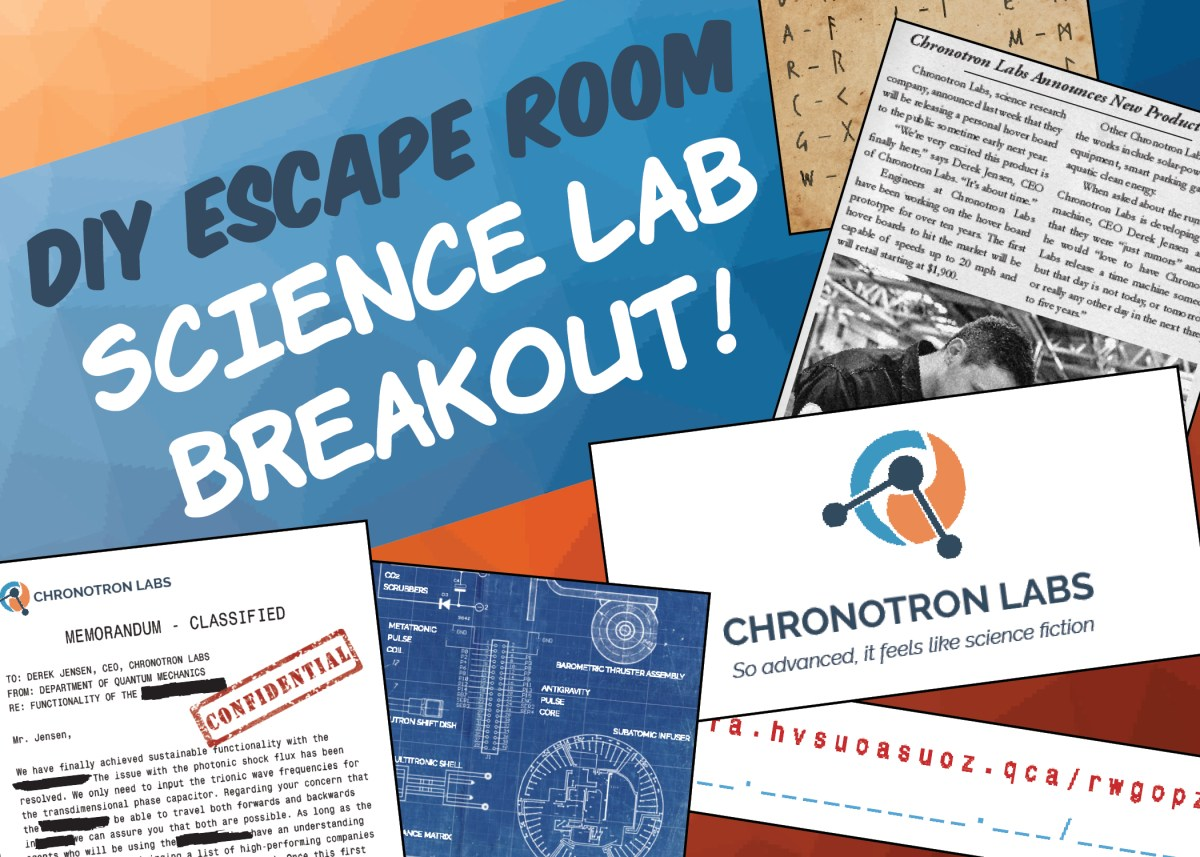 Diy escape room kit science lab breakout the game gal for Escape game diy