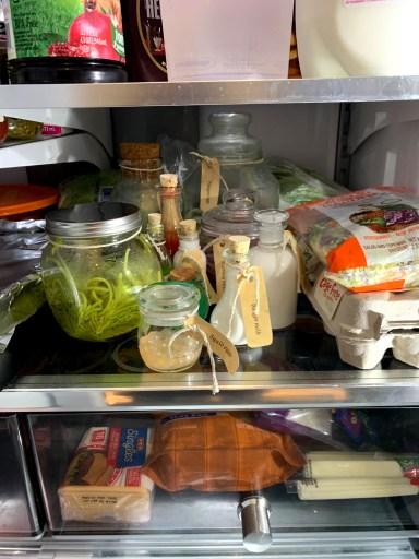 potion ingredients in fridge for harry potter escape room