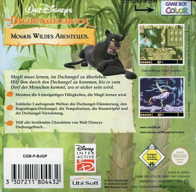 Game adventure jungle book mowglis wild