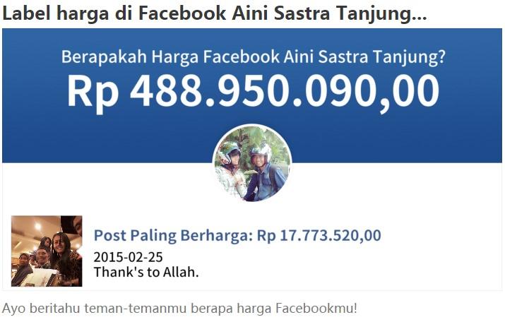 Aplikasi Untuk Mengetahui Harga AKun Facebook Anda \u2013 The Gaptek