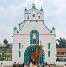 The church in San Juan Chamula, Mexico