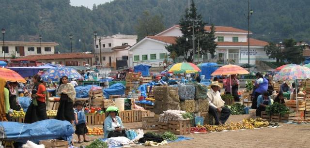 the market at San Juan Chamula, Mexico