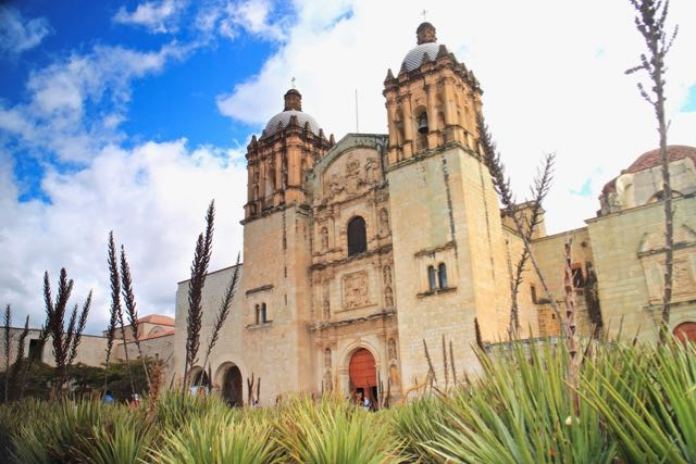 the iconic Santo Domingo church in Oaxaca
