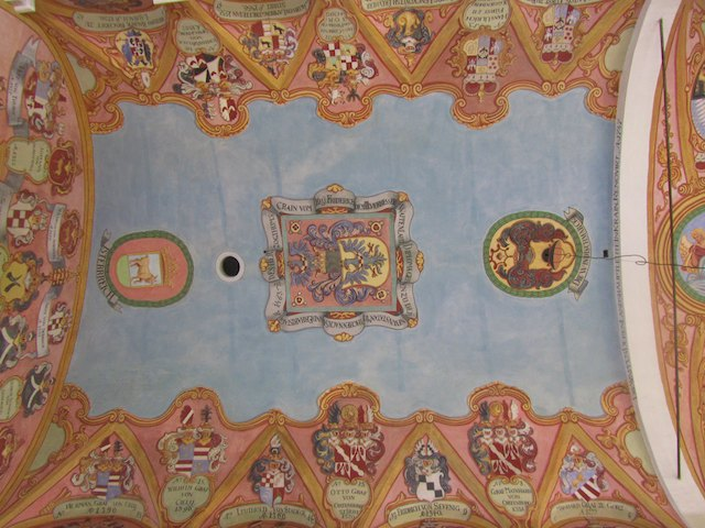 The chapel ceiling at Ljubljana castle