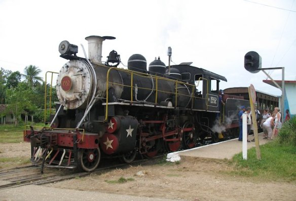 what to expect in Cuba: steam train