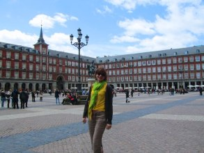 24 hours in Madrid: me at Plaza Mayor