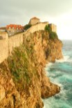 Split or Dubrovnik? The walls with the sea below