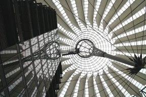 Berlin architecture walk Sony Center roof