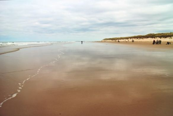 The beautiful beach at Bamburgh, Northumberland - The Gap Year Edit instagram pictures 2016
