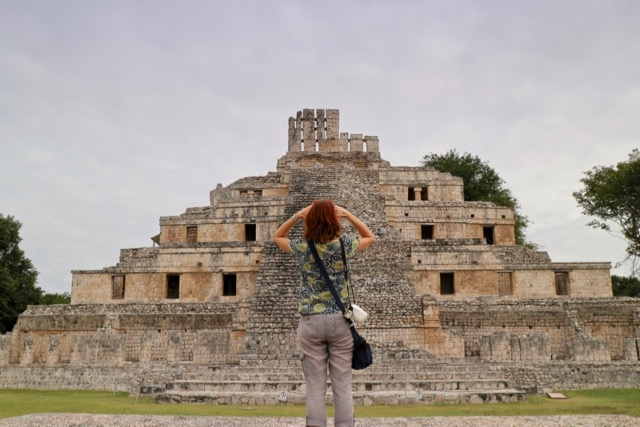the Edzna Mayan ruins near Campeche main plaza