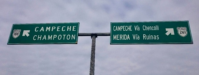 how to get from Edzna to Campeche