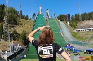 ski jump run Red Bull 400 Lahti Finland