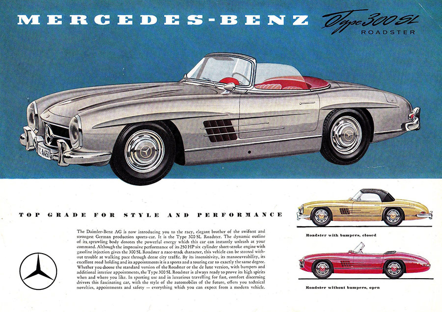 mercedes 300sl advertising