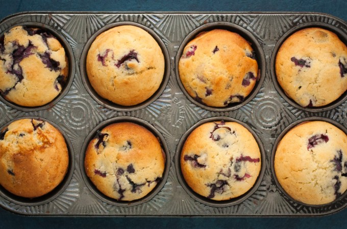 Blueberry Lemon Buttermilk Muffins