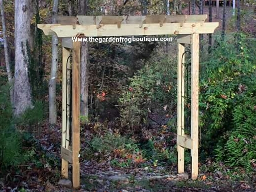 How To Build A Rustic 6u0027 Garden Arbor, DIY Garden Arbor