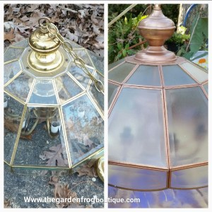 Update a Chandelier with Rustoleum spray paint